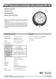 MFP7 Manómetros industriales altas presiones DN 150 - Baumer