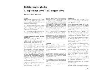 Koldingbegivenheder 1. september 1991 - 31. august 1992