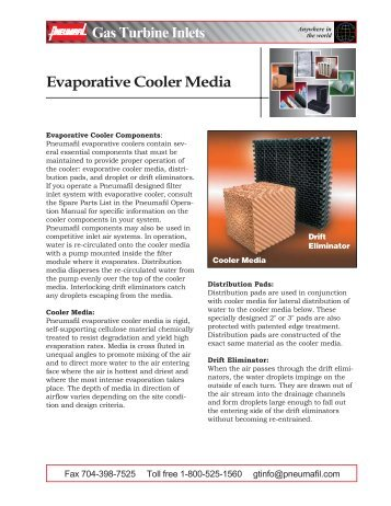 Evaporative Cooler Media - Pneumafil