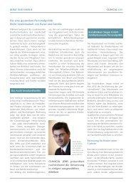für eine gesündere Personalpolitik: mehr ... - Clinical Jobs