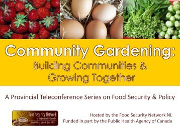 community gardening - The Food Security Network of Newfoundland ...