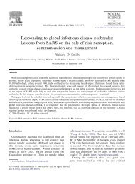 Responding to global infectious disease outbreaks ... - CRASSH and