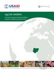 AgCLIR: nIgeRIA - Economic Growth - usaid