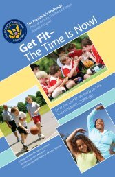 Get Fit– The Time Is Now! - The President's Challenge