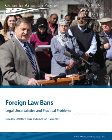 Foreign Law Bans - Brennan Center for Justice