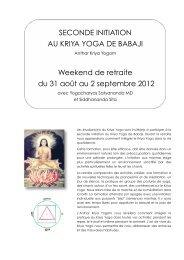 SECONDE INITIATION AU KRIYA YOGA DE BABAJI Weekend de ...