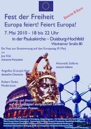 Europa feiert! Feiert Europa!