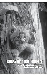 2006 Annual Report 2006 Annual Report - Forest Service ...