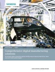 Brochure - Comprehensive Digital Manufacturing Solutions