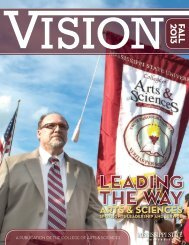 VISION magazine - College of Arts & Sciences - Mississippi State ...