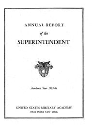 Supe's Report - Class of 1964 - West-Point.ORG, The West Point ...