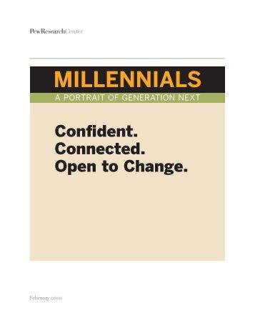 MILLENNIALS - Pew Social & Demographic Trends