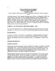PDF Archive Part 2 - TCU: Faculty Senate - Texas Christian University