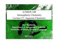 Aqueous Chemistry - Department of Atmospheric Sciences ...