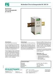 Redundant-Überwachungsmodul DC-RM 20 - FG-Elektronik GmbH