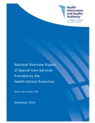 National Overview Report of Special Care Services ... - hiqa.ie
