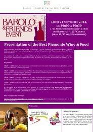 Presentation of the Best Piemonte Wine & Food - Camera di ...