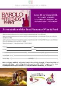 Presentation of the Best Piemonte Wine & Food - Camera di ... - Page 2
