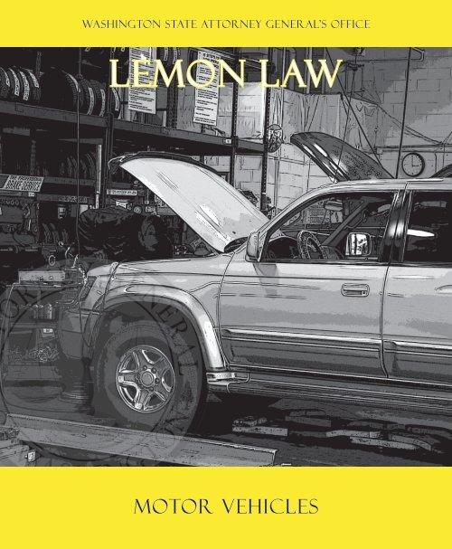 Lemon Law- Motor Vehicles Booklet