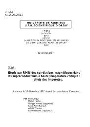 Sujet : Etude par RMN des corrélations magnétiques dans ... - Accueil