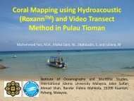 Pembentangan 12 : Coral Mapping using Hydroacoustic (RoxannTM)