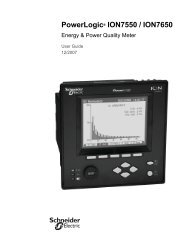 PowerLogic ION7550 / ION7650 User Guide - Schneider Electric