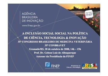 A INCLUSÃO SOCIAL SOCIAL NA POLÍTICA DE ... - SOVERGS