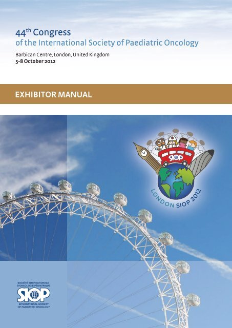Exhibitor Manual - SIOP 2012, 44th Congress of the International ...