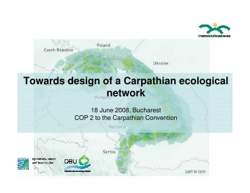 Towards design of a Carpathian ecological network