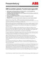 Pressemitteilung - ABB