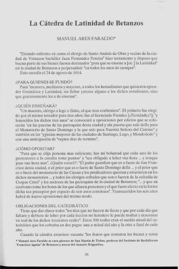 Page 1 La Cátedra de Latinidad de Betanzos MANUEL Anas ...