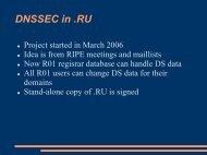 DNSSEC in .RU