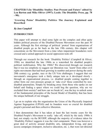 Growing Pains' Disability Politics The Journey Explained and