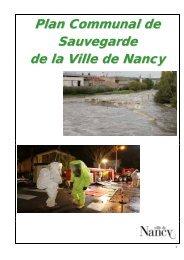 Plan Communal de Sauvegarde de la Ville de Nancy
