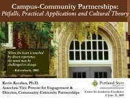 Campus-Community Partnerships: - The American University in Cairo