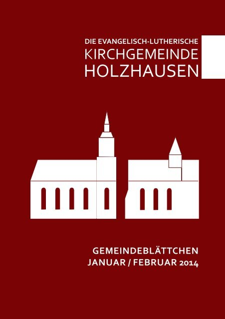 Gemeindeblättchen Januar /Februar 2014 - Kirchgemeinde ...