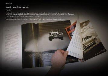 Audi – profilkampanje - Gullblyanten