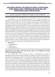 valoracion de calidad de viday capacidad funcional pre - Neumosur