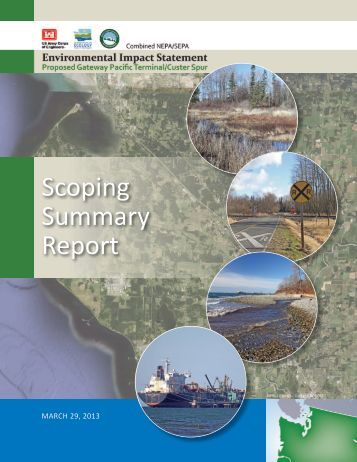 Scoping Summary Report - EISs for the Proposed Gateway Pacific ...