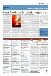 Reformiert Nr. 15 (März 2013) - Biel