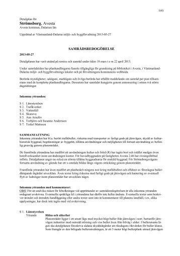 Samrådsredogörelse (pdf fil) - Avesta