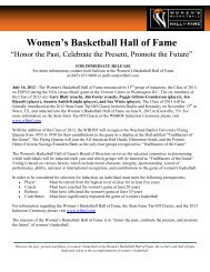 The Women's Basketball Hall of Fame