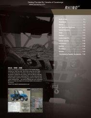 Rhino Accessory Catalog - Yamaha of Cucamonga