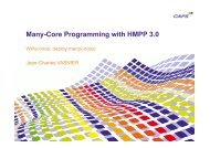 Many-Core Programming with HMPP 3.0