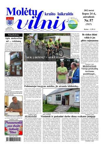 2012 m. liepos 24 d., antradienis Nr.57 - 2013 - VILNIS
