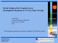 On the origin of the tropical lower stratospheric response to 11 ... - GFZ