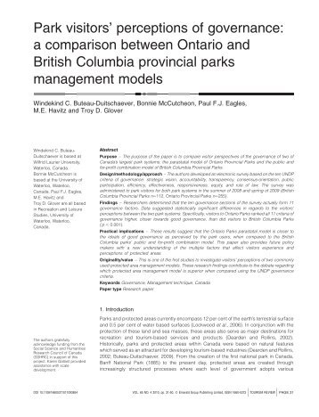 a comparison between Ontario and British Columbia ... - Emerald