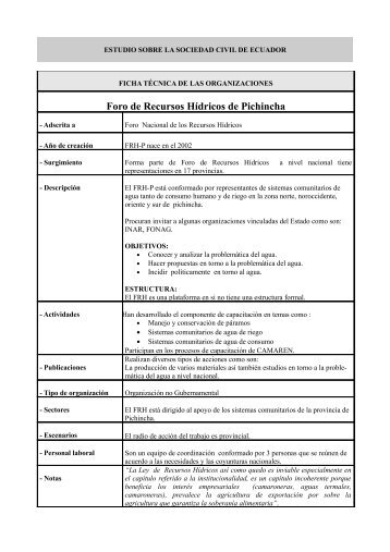 Foro de Recursos Hídricos de Pichincha - IEPALA