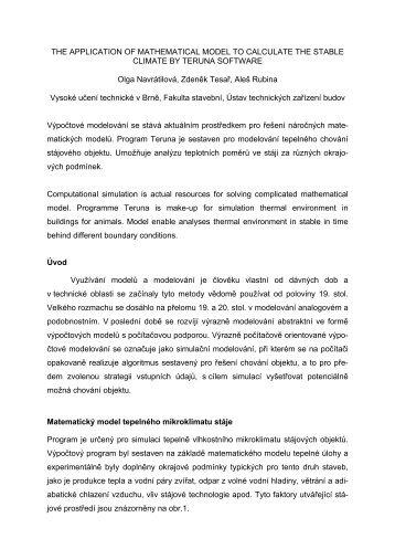 Aplikace výpočtového modelu v software Teruna pro tvorbu ...