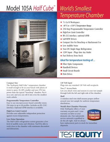 TestEquity Model 105A Temperature Chamber
